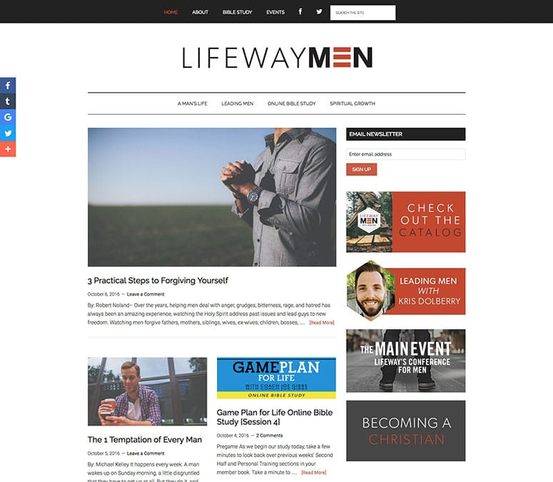 LifeWay Men Blog - Celtson Portfolio