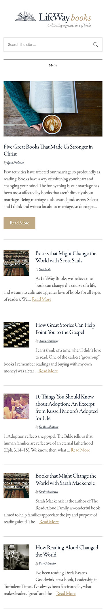 LifeWay Books Mobile Version